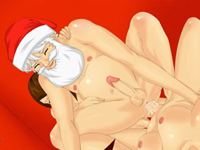 santa claus get futanari dick in the ass