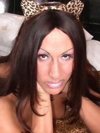 MILF tranny loves fur clothing and jewelry